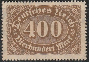 Stamp Germany Reich Mi 250 Sc 202 1922 Number Horizontal Oval Queroffset MNH