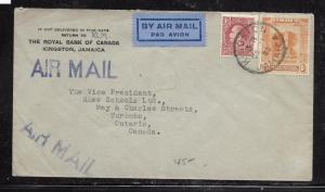 JAMAICA (PP1301B) 1933 1/-+1D  A/M COVER TO CANADA