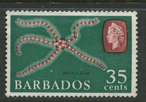 Barbados - Scott 277- QEII Pictorial Definitives - 1965 -Used -Single 35c Stamps