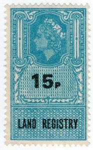 (I.B) Elizabeth II Revenue : Land Registry 15p