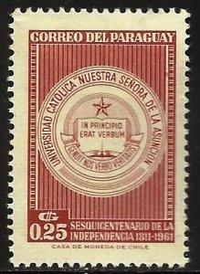 Paraguay 1961 Scott# 599 MH
