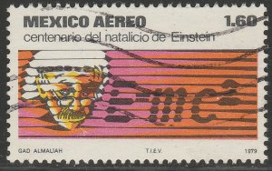 MEXICO C592 Centenary birth of Albert Einstein. Used. F-VF. (1194)