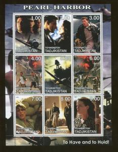 Tajikistan Commemorative Souvenir Stamp Sheet - Motion Picture Pearl Harbor