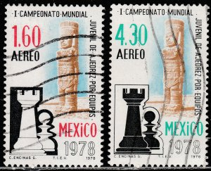 MEXICO C577-C578, World Chess Championship. USED VF. (805)