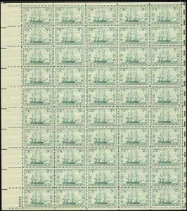 US  #951 FRIGATE CONSTITUTION 150TH ANNIVERSARY  SHEET OF 50