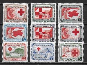 Guatemala 360-62 B5-7 CB5-7 Red Cross set MNH