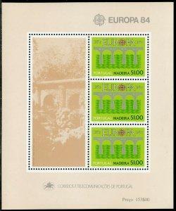 PORTUGAL MADEIRA  SCOTT#94a 1984  EUROPA  SOUVENIR SHEET MINT NEVER HINGED