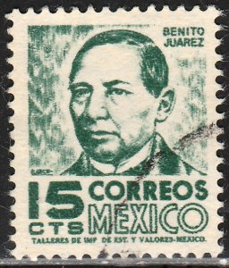 MEXICO 945, 15cents 1950 Definitive 3rd Printing wmk 350. USED. (1428)