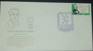 A) 1998, MEXICO, LUCAS ALEMAN FOUNDER OF THE NATIONAL AND PUBLIC ARCHICS, FDC, S