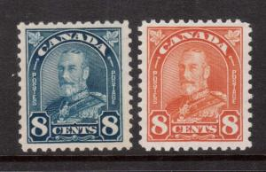 Canada #171 - #172 VF/NH Duo