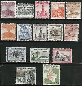 Colombia Scott C239-254 MH* 1954 complete lightly hinged ...