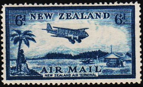 New Zealand. 1935 6d S.G.572 Mounted Mint