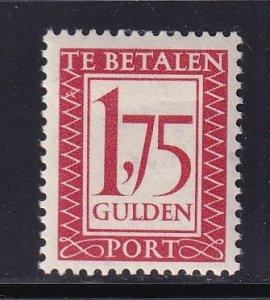 Netherlands  #J106  MH  1957   postage due  1.75g