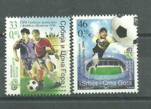Serbia and Montenegro 2006 FIFA World Cup Germany SET MNH
