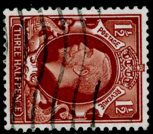 SG441d, 1½d red-brown, USED. WMK SIDE