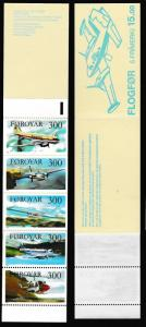 Faroe Is. Aircrafts Booklet of 5v SG#122-126 SC#134-138