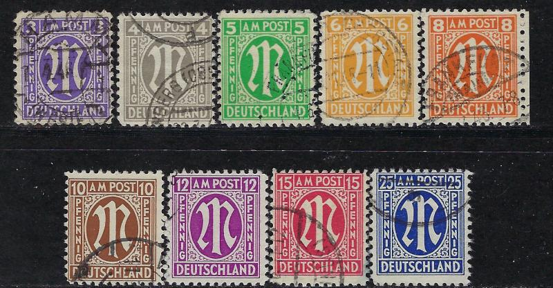Germany Am Post Scott 3n2a 3n13a Used Cpl Set Hipstamp