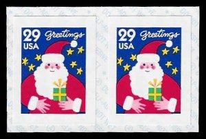 PCBstamps     US #2873v Coil Pair 58›(2x29›)Santa Claus, 1994, MNH, (1)