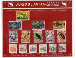YUGOSLAVIA   MIXTURE ,ART x 15 IN PRESENTATION PACK ALL DIFFERENT LOT h A