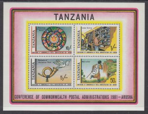 Tanzania 184a Souvenir Sheet MNH VF
