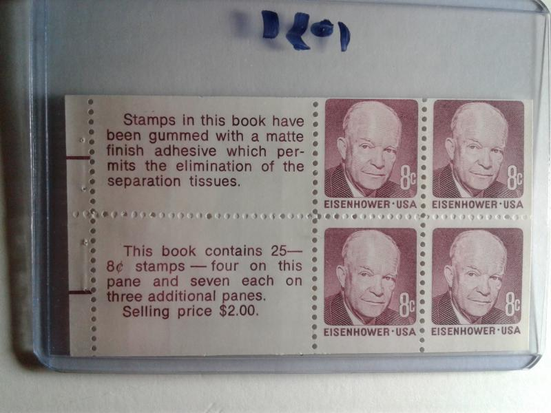 SCOTT # 1395 C PANE EISENHOWER GEM MINT NEVER HINGED !! 1971 AMAZING !!!