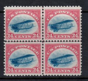 USA #C3 Very Fine Mint Center Line Block - Bottom Stamps Never Hinged Top LH