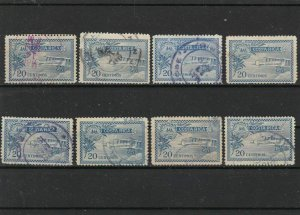 costa rica 1930 air stamps ref r11131