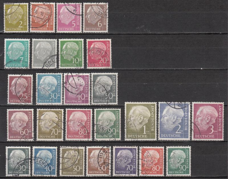 Germany - 1954/1956 President Heuss - complete collection