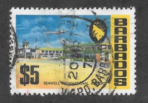 Barbados Scott #343  Used $5  Seawall Intl Airport 2017 CV $11.00