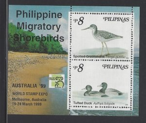 2606c Migratory Shorebirds/AUSIPEX '99 CV$5
