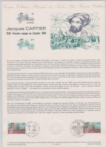 FRANCE POSTAGE CARD ON JACQUES CARTIER IN 1984 STAMPS USED STAMPS   LOT#324