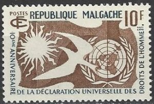 Malagasy 300  MNH  Declaration of Human Rights 1958