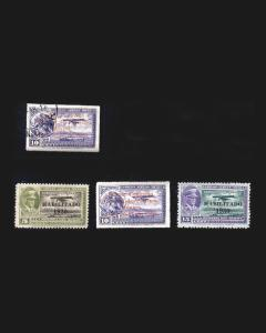 VINTAGE: MEXICO 1930 USED, NH SCOTT # C30,C28-C30 NH, $ 115  LOT # MC2800-C11