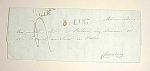 ITALY  FRANCE ALBERTVILLE 1844  STAMPLESS