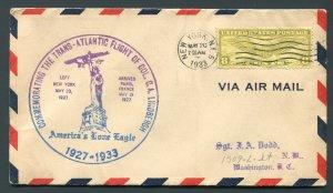 1933 6th Anniversary Lindbergh Trans-Atlantic Flight - New York, NY