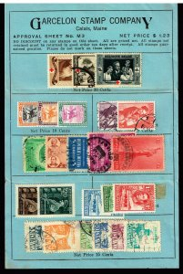 WORLDWIDE STAMP SELLING PAGE COLLECTION LOT  #S2