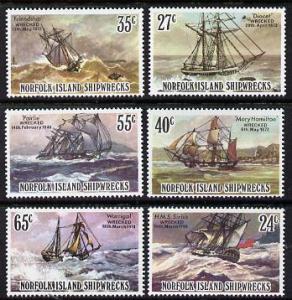 Norfolk Island 1982 Shipwrecks set of 6 unmounted mint, S...