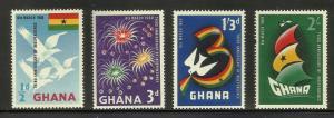 Ghana 1960 Scott# 71-74 MNH