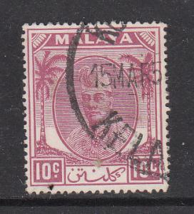 Malaya Kelantan 1951 Sc 56 10c Used