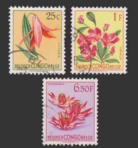 BELGIAN CONGO STAMP 1952. SCOTT # 266 - 78. USED.