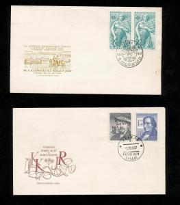 Czechoslovakia 1957 M&U Blocks Covers (Appx 100+Items) (Ref DD544