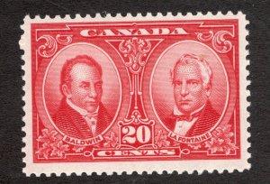 #148 - Canada - 1927 - 20c Historical Issue - MLH - VF - superfleas - cv$45