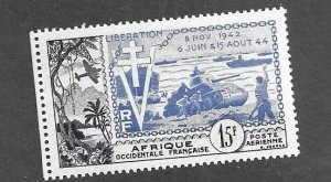 French Occ Africa C7 MH Liberation Issue
