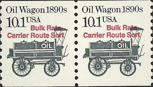 # 2130a MINT NEVER HINGED PRE-CANS. 1890'S OIL WAGON
