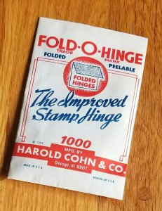 1 Pack of old Fold-O-Hinge sealed and complete
