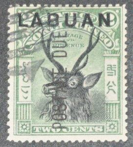 DYNAMITE Stamps: Labuan Scott #J1 – USED