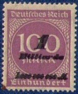 Germany Sc #310b MNH,Og 1923 (Mi 331a) 1mlrd m on 100m error over inked corner