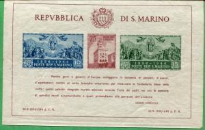 San Marino Souvenir Sheet #239 Mint Light Hinge Remnants - O56