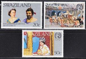 Swaziland MNH 278-80 QE II Silver Jubilee 1977