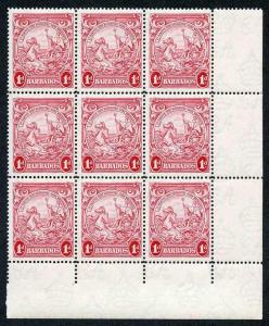Barbados SG249a 1d scarlet perf 14 (one tone spot) U/M The Key Stamp in the Set
